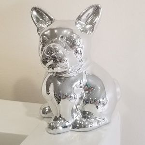 Other - 2/$12 Silver french bulldog home decor ornament